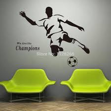 wall decals football soccer wall sticker football player decal sports  decoration mural soccer wall sticker football . wall decals football  personalised ...