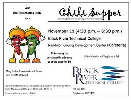 chili supper flyer chili supper fundraiser black river technical college