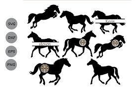 Horse Svg Files Horse Monogram Horse Clipart Horse Silhouette Svg