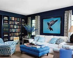 Painting Living Room Blue Awesome Blue And Orange Living Room
