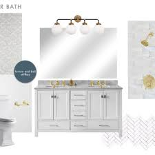 Master Bathroom Adorable Our Master Bathroom Plan Sneak Peek Emily Henderson