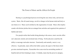 the power of music and its affects on people a level music  document image preview