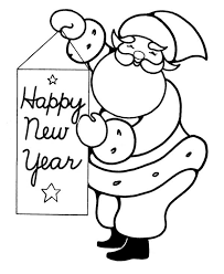 Small Picture Joyful and Happy Santa Greetings on 2015 New Year Coloring Page