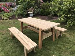 all tables benches come standard with double 45 degree corners and round over edge please specify if you would like 90 degree corners and edges