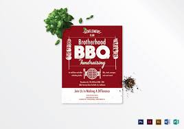 Bbq Fundraiser Flyer Barbecue Fundraising Flyer Design Template In Psd Word Publisher