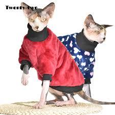 Sphynx Cat Color Chart Pet Supplies Warm Winter Sphynx Cat Clothes Fleece Soft Cat Clothing For Cornish Rex Cats Suit Devon Rex Costume Pet Coat Jacket Cat Costumes For