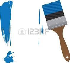 pincel pintando. pincel pintando un signo de exclamación grande