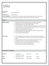 Sample Resume For Freshers Engineers Download Network Engineer