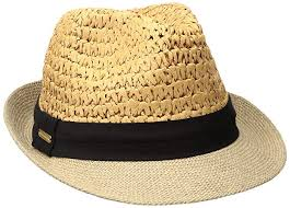 Steve Madden Women\u0027s Two Weave Banded Fedora, Black, One Size at