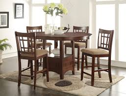 office surprising counter height table and chairs 12 tall dining room sets round gathering tables high