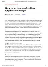 how to write a good college application essay quickessaywriter