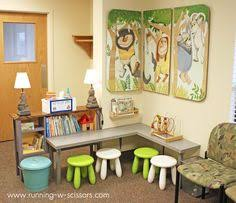 as this picture demonstrates you dont need to have a lot of space to create a child friendly play area the table is child height maximizes the amount of child friendly furniture