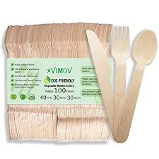 <b>50</b>/<b>100pcs Disposable</b> Wooden Forks for hiking picnic Party ...