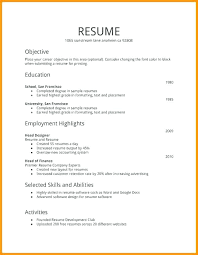 Job Resume Outline Top Rated Resume Template First Time Resume
