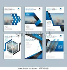 Brochure Template Layout Cover Design Stock Photo