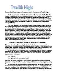 twelfth night essay the twelfth night by william shakespeare at com