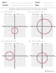 circle equations worksheet free worksheets library and
