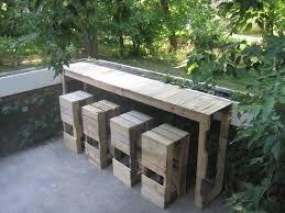 diy pallet bar. DIY Pallet Outdoor Bar And Stools - Finish Diy
