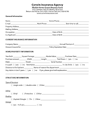 homeowners insurance form with homeowners insurance with regard to insurance quote sheet template