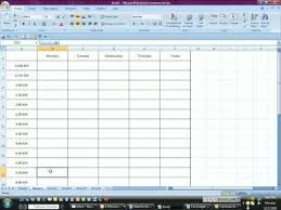 how to make a time schedule in excel time management with excel youtube