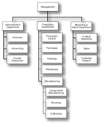 Organizational Chart Of Robots Manufacturers Inc