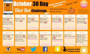 30 Day Dietbet Calendar Love Sweat Fitness