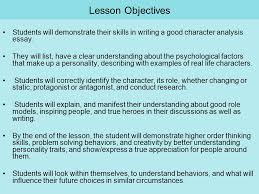 character analysis finding the mystery character th th grade  lesson objectives students will demonstrate their skills in writing a good character analysis essay
