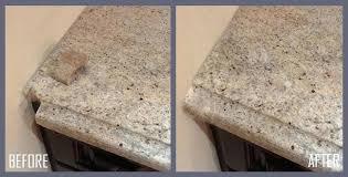 chipped granite fix chip how to repair countertop edge