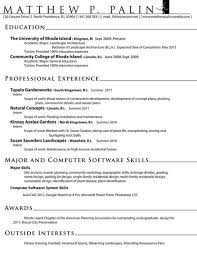 Landscaping Objective Resume Sample