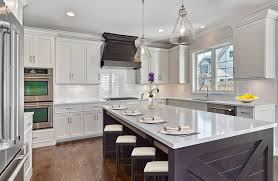 shaker style kitchen kitchen transitional with large kitchen island traditional pendant lights