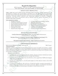 Assistant Principal Resume From Assistant Principal Cover Letter Stunning Assistant Principal Resume