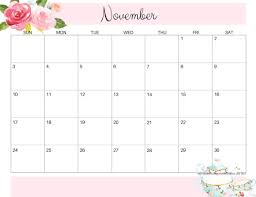 Cute November 2019 Calendar Thanksgiving Day Wallpaper