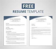 Free Word Template Resume Free Resume Template For Word Photoshop