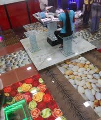Small Picture Flower and pebbles Floor Design Glass Printing Glass Printing