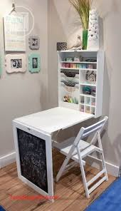 fold up desk luxury 29 sneaky diy small space storage and organization ideas on a