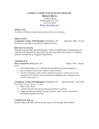 Coursework Resume Templates Resume Builder Computer Science Student