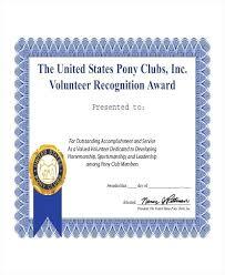 Certificate Wording For Appreciation Volunteer Template