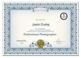 diploma of professional photography certificate jason crump jason crump 04 2015