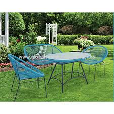china all steel 4pcs round rope wicker rattan outdoor garden patio furniture dining table set