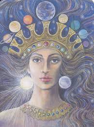 Goddesses Of The New Light Ishtar As Queen Of Heaven With The Crown Of Planets And