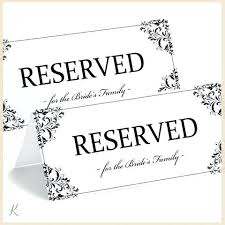 Reserved Signs Templates Wedding Signs Template Techshopsavings Info