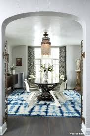 nautical area rugs with contemporary dining room and tie dye rug modern chairs indigo blue