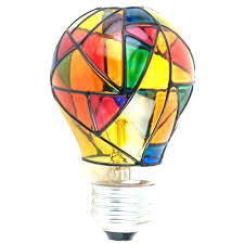 light bulb target stained glass electric stained glass light bulb stained glass light bulb target