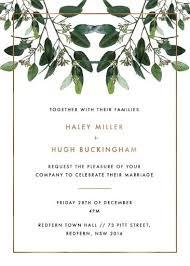garden estate wedding invitations