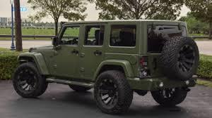 custom matte green jeep wrangler