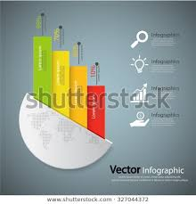 Advertising Charts And Graphs Business Steps Charts Graphs Vector Illustration Stock Image