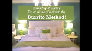 duvet cover trick the burrito method