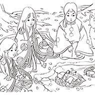 時代物日本画風大人の塗り絵教室無料my介護の広場