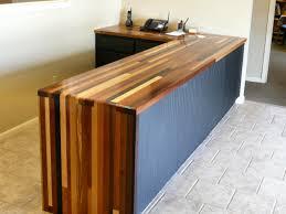 Brick-A-Brack edge grain custom wood desk top.