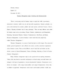 business major research paper